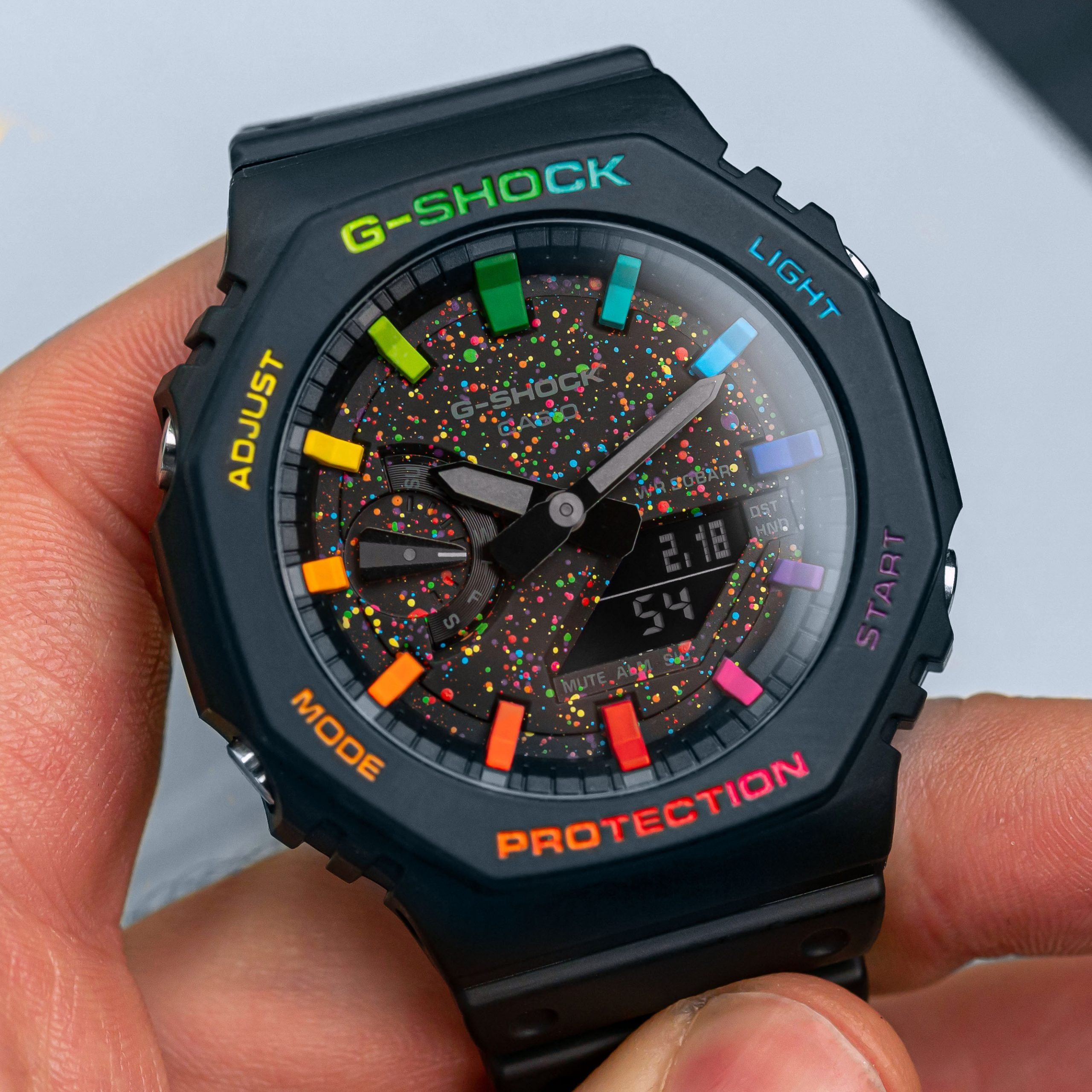Custom Casio G-Shock 'CasiOak' Galaxy Limited Edition IFLW x The Dial Artist Collaboration Hand-painted